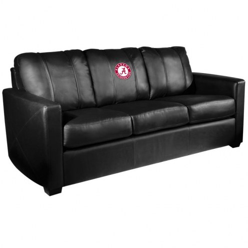 Alabama Crimson Tide XZipit Silver Sofa