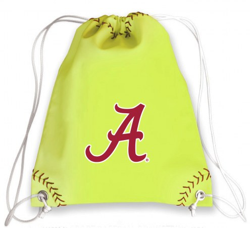 Alabama Crimson Tide Softball Drawstring Bag
