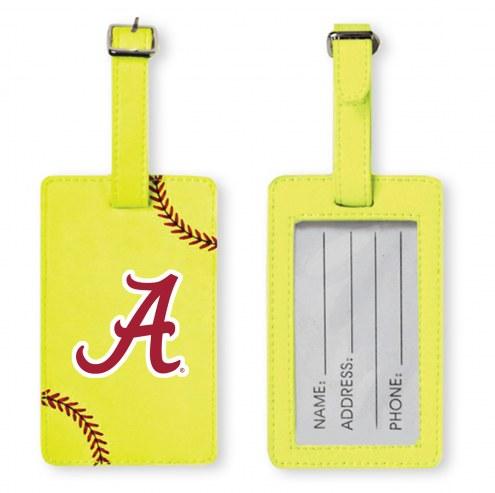 Alabama Crimson Tide Softball Luggage Tag