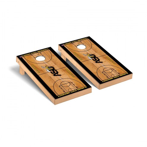 Alabama State Hornets Basketball Court Cornhole Game Set