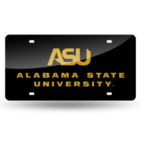 Alabama State Hornets Laser Cut License Plate
