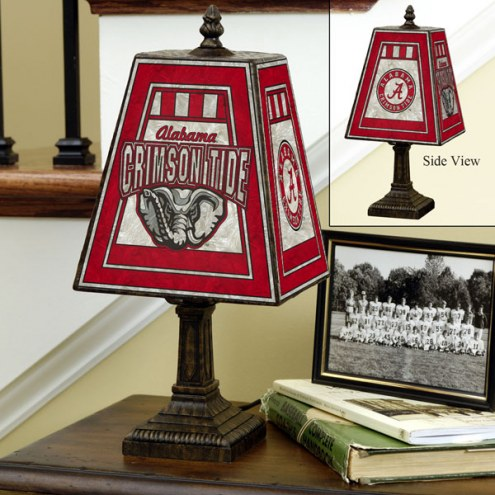 Alabama Crimson Tide NCAA Hand-Painted Art Glass Table Lamp