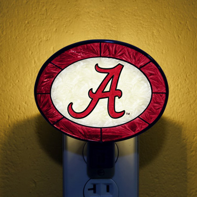Alabama Crimson Tide NCAA Stained Glass Night Light
