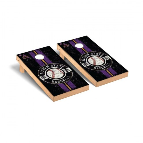 Alcorn State Braves Baseball Vintage Cornhole Game Set