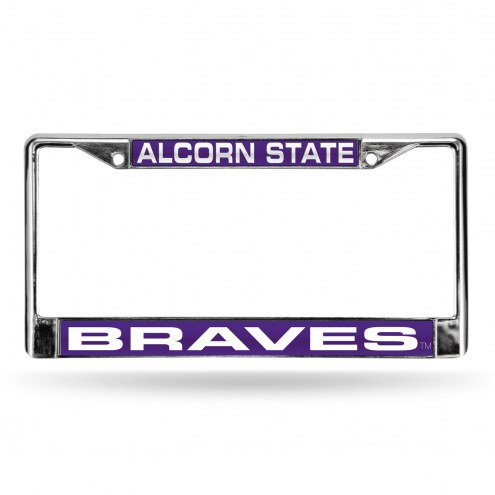 Alcorn State Braves Laser Chrome License Plate Frame