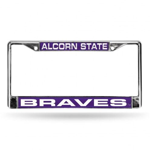 Alcorn State Braves Laser Chrome License Plate Frame
