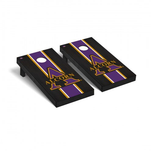 Alcorn State Braves Onyx Stained Cornhole Game Set