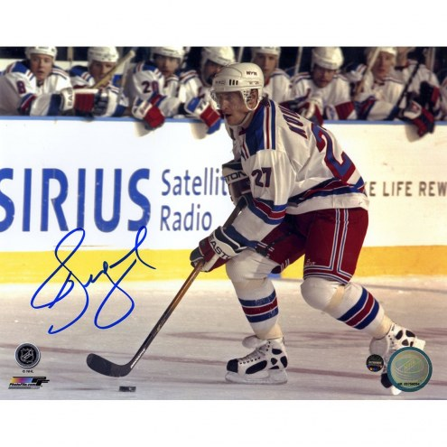 Alexei Kovalev Signed Skating with Puck 8x10 Photo