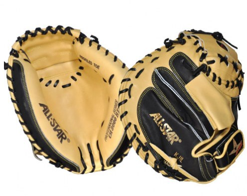 "All Star Pro Elite CM3000 Series 35"" Baseball Catcher's Mitt - Right Hand Throw"