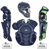 All Star System7 Axis NOCSAE Certified Adult Pro Solid Baseball Catcher's Kit
