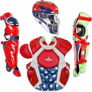 All Star System7 Axis NOCSAE Certified Adult Pro USA Baseball Catcher's Kit