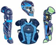 All Star System7 Axis Two Tone Baseball Catcher's Gear Set - Ages 12-16