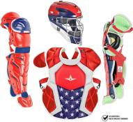All Star System7 Axis NOCSAE Certified USA Youth Pro Catcher's Kit - Ages 9-12