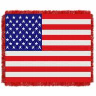 American Flag Woven Throw Blanket