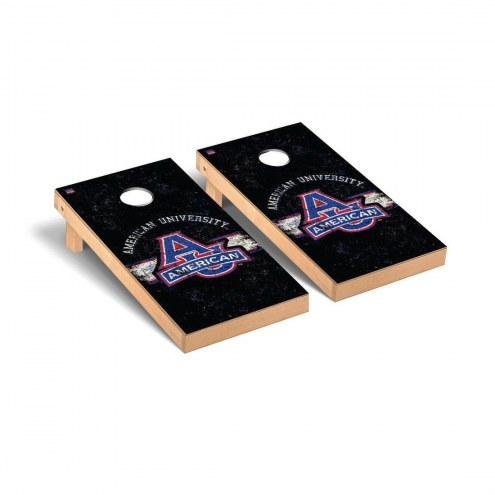 American University Eagles Banner Vintage Cornhole Game Set