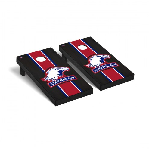 American University Eagles Onyx Stained Cornhole Game Set