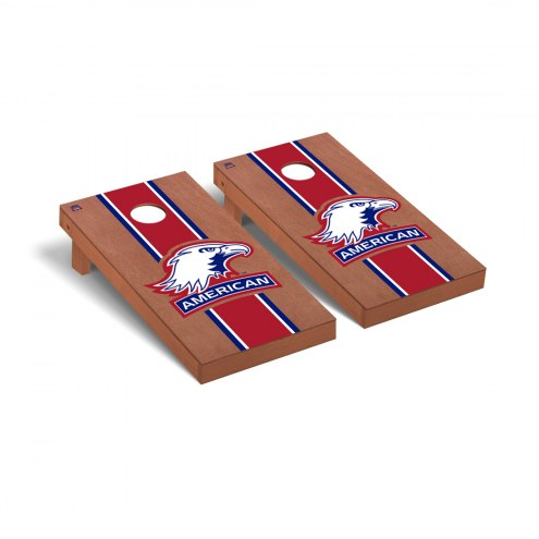 American University Eagles Rosewood Stained Cornhole Game Set