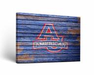 American University Eagles Weathered Canvas Wall Art