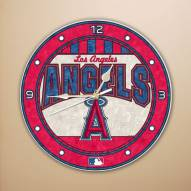 Anaheim Angels MLB Stained Glass Wall Clock