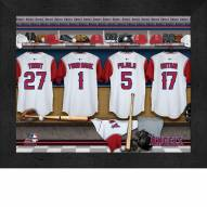 Los Angeles Angels Personalized Locker Room 11 x 14 Framed Photograph