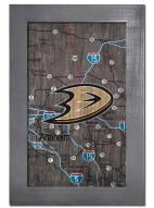 """Anaheim Ducks 11"""" x 19"""" City Map Framed Sign"""