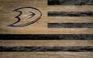 "Anaheim Ducks 11"" x 19"" Distressed Flag Sign"