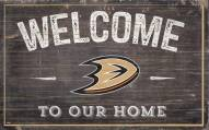 """Anaheim Ducks 11"""" x 19"""" Welcome to Our Home Sign"""