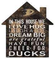 "Anaheim Ducks 12"" House Sign"