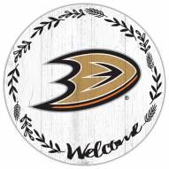 "Anaheim Ducks 12"" Welcome Circle Sign"