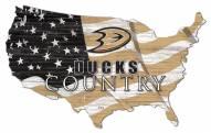 """Anaheim Ducks 15"""" USA Flag Cutout Sign"""