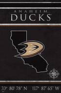 """Anaheim Ducks 17"""" x 26"""" Coordinates Sign"""
