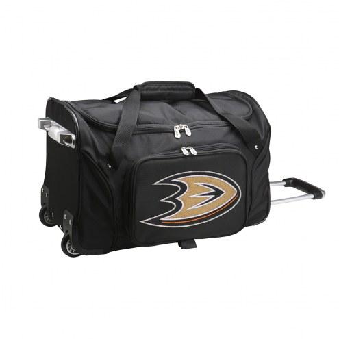 "Anaheim Ducks 22"" Rolling Duffle Bag"