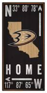"""Anaheim Ducks 6"""" x 12"""" Coordinates Sign"""