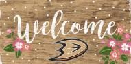"Anaheim Ducks 6"" x 12"" Floral Welcome Sign"