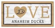 """Anaheim Ducks 6"""" x 12"""" Love Sign"""