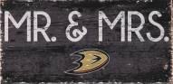 """Anaheim Ducks 6"""" x 12"""" Mr. & Mrs. Sign"""