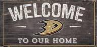 """Anaheim Ducks 6"""" x 12"""" Welcome Sign"""