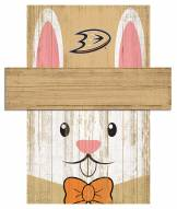 """Anaheim Ducks 6"""" x 5"""" Easter Bunny Head"""