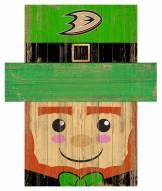 """Anaheim Ducks 6"""" x 5"""" Leprechaun Head"""
