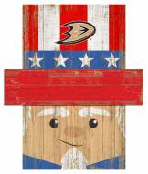 "Anaheim Ducks 6"" x 5"" Patriotic Head"