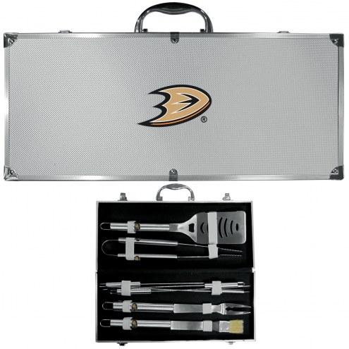 Anaheim Ducks 8 Piece Stainless Steel BBQ Set w/Metal Case