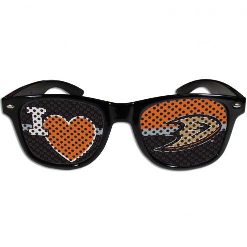 Anaheim Ducks Black I Heart Game Day Shades