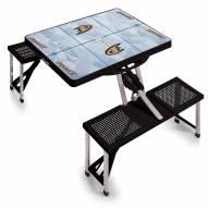 Anaheim Ducks Black Sports Folding Picnic Table
