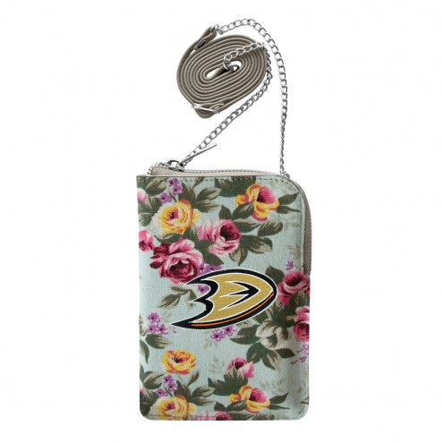 Anaheim Ducks Canvas Floral Smart Purse