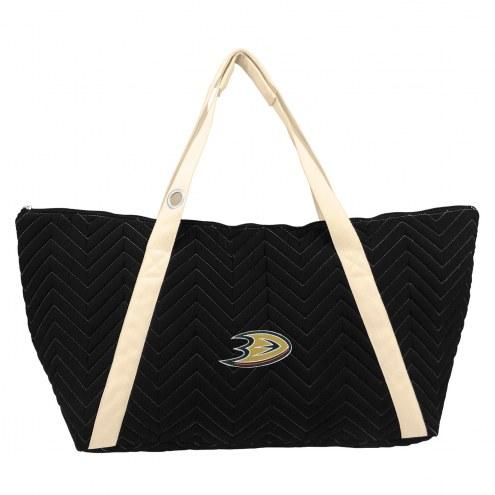 Anaheim Ducks Chevron Stitch Weekender Bag