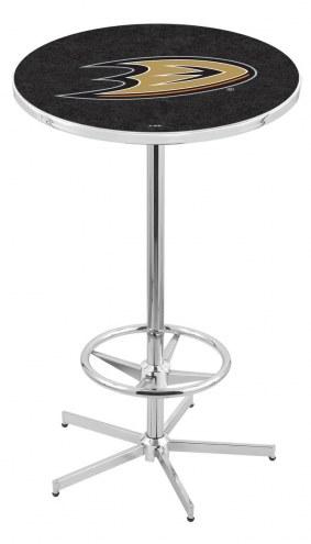 Anaheim Ducks Chrome Bar Table with Foot Ring