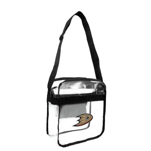 Anaheim Ducks Clear Crossbody Carry-All Bag