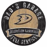 Anaheim Ducks Dad's Garage Sign