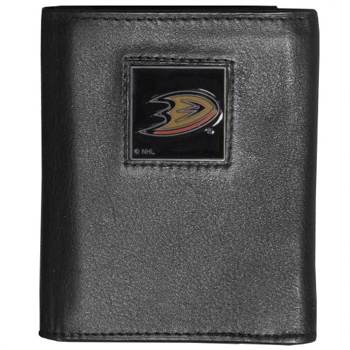 Anaheim Ducks Deluxe Leather Tri-fold Wallet in Gift Box
