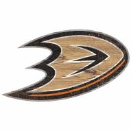 Anaheim Ducks Distressed Logo Cutout Sign